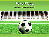 PowerPoint Template - football at penalty box in a stadium