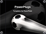 PowerPoint Template - a soccer football is flying