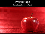 PowerPoint Template - apple in a red background