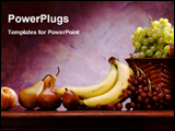 PowerPoint Template - mix fruits in a table