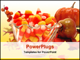 PowerPoint Template - candy corn in a boul