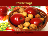 PowerPoint Template - fruits are decore for christmas table