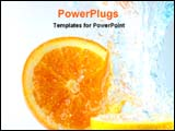 PowerPoint Template - orange and lemon in water