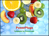 PowerPoint Template - fruits in a tray with ice