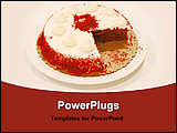 PowerPoint Template - image of a birthday cake