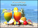 PowerPoint Template - glasses with fruits and juice
