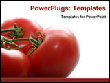 PowerPoint Template - image of fresh tomatoes