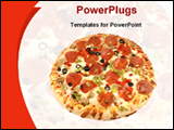 PowerPoint Template - image of pizza