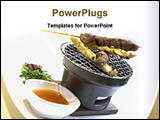 PowerPoint Template - beef chicken satay with pean