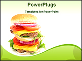 PowerPoint Template - double decker cheese burger