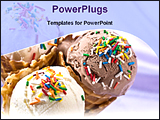 PowerPoint Template - ice cream with knick knackery