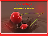 PowerPoint Template - cherry falls into chocolate
