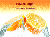 PowerPoint Template - image of fresh sliced orange
