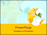 PowerPoint Template - oranges with vanilla ice cream