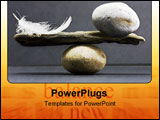 PowerPoint Template - a feather and a stone equally balance