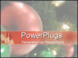 PowerPoint Template - Christmas bauble hangs on tree