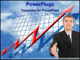 PowerPoint Template - showing financial growth