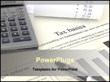 PowerPoint Template - tax calculation with calculator