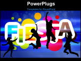 PowerPoint Template - Graphic design about Fiesta and a celebration event