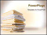 PowerPoint Template - an image of file stack