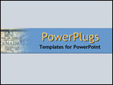 PowerPoint Template - Stylistic montage of big buildings and modern ceme