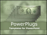 PowerPoint Template - American hundred dollar bills