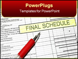 PowerPoint Template - Project Final Schedule with time graph and pen