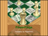 PowerPoint Template - chess money concept 3d