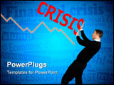 PowerPoint Template - Concept of business man stopping the financial crisis