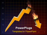 PowerPoint Template - Under the influence of world financial crisis