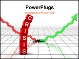 PowerPoint Template - crisis (from cubes buzzword 3D hires series)