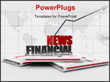 PowerPoint Template - financial news logo on newspaper - digital artwork