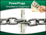 PowerPoint Template - chain and us dollar with white background concept of financial support