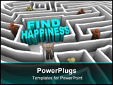PowerPoint Template - Many people try to find happiness through a deep maze