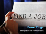PowerPoint Template - finding a job on a newspaper.