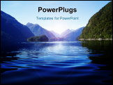 PowerPoint Template - View over Doubtful Sound a fiord in New Zealand