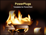 PowerPoint Template - fire in water