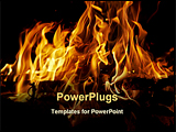 PowerPoint Template - abstract shot of the fire and flames
