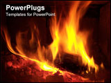 PowerPoint Template - fire place.