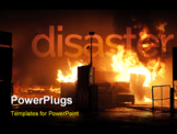 PowerPoint Template - Natural disaster - fire