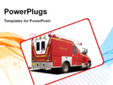 PowerPoint Template - A Big Red Ambulance Fire Rescue Truck