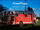PowerPoint Template - This is a photo of a fire truck