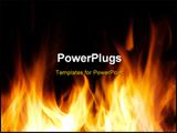 PowerPoint Template - A nice fire in a fire place