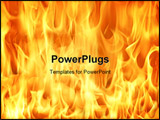 PowerPoint Template - fire and flames background