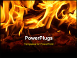 PowerPoint Template - logs in fire