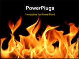 PowerPoint Template - close up of fire and flames on a black background