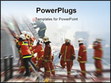 PowerPoint Template - firemen at work