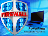 PowerPoint Template - Shield computer abstract (done in 3d, isolated)