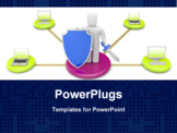 PowerPoint Template - Firewall metaphor. Image contain clipping path