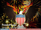 PowerPoint Template - us emblem over fireworks